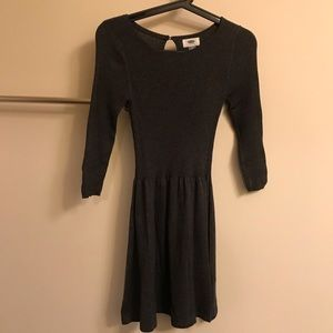 Old Navy charcoal gray fit&flare sweater dress XS